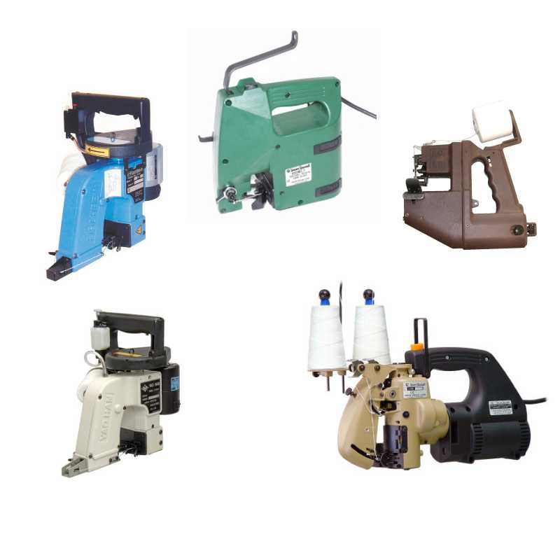 Portable industrial sewing machines