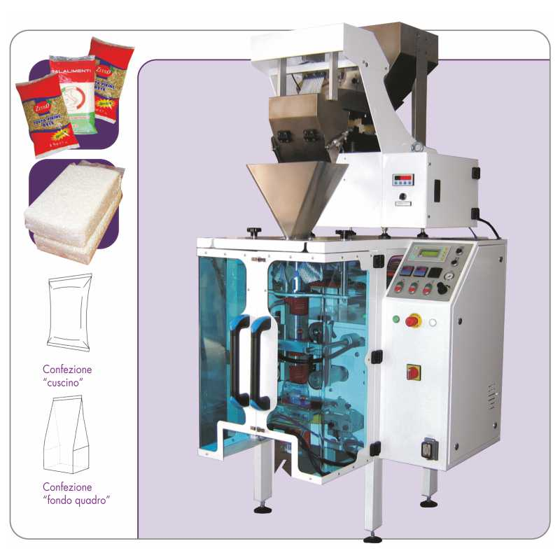 Automatic vertical packaging machine - KOMPAKT + M model