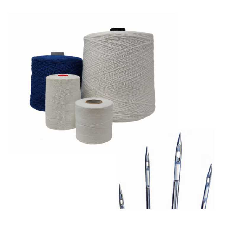 Yarn and accessories for industrial sewing machines